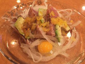 【■鮪百珍■013 炙りルイベのカルパッチョ】