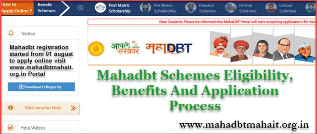 mahadbt eligibility criteria benefits and application process