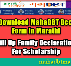 What Is Family Declaration Form | How To Download & Fill Up Beneficiary Format Undertaking For Scholarships. 7