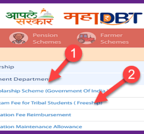 Tuition Fee &  Exam Fee Online Free ship Scholarship Application For Tribal (ST) Students (Free-ship). 7