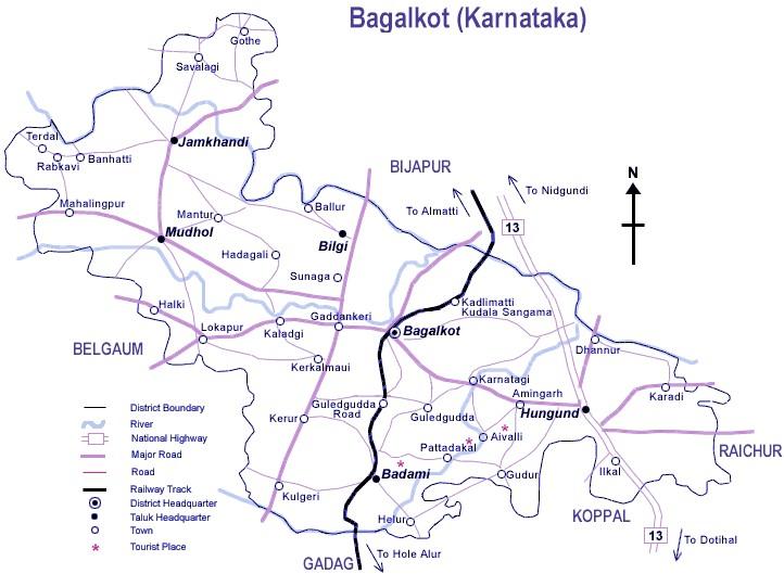Bagalkot District Map