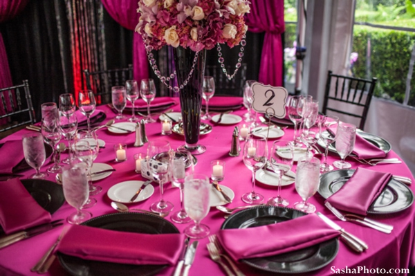 Fun Table Setup At A Barn Wedding Reception
