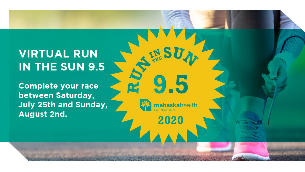 Mahaska Health Foundation's Virtual Run in the Sun 9.5 1