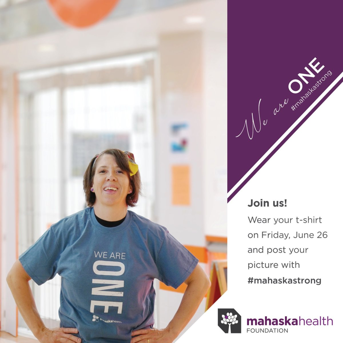 We Are One Mahaska Strong t-shirt
