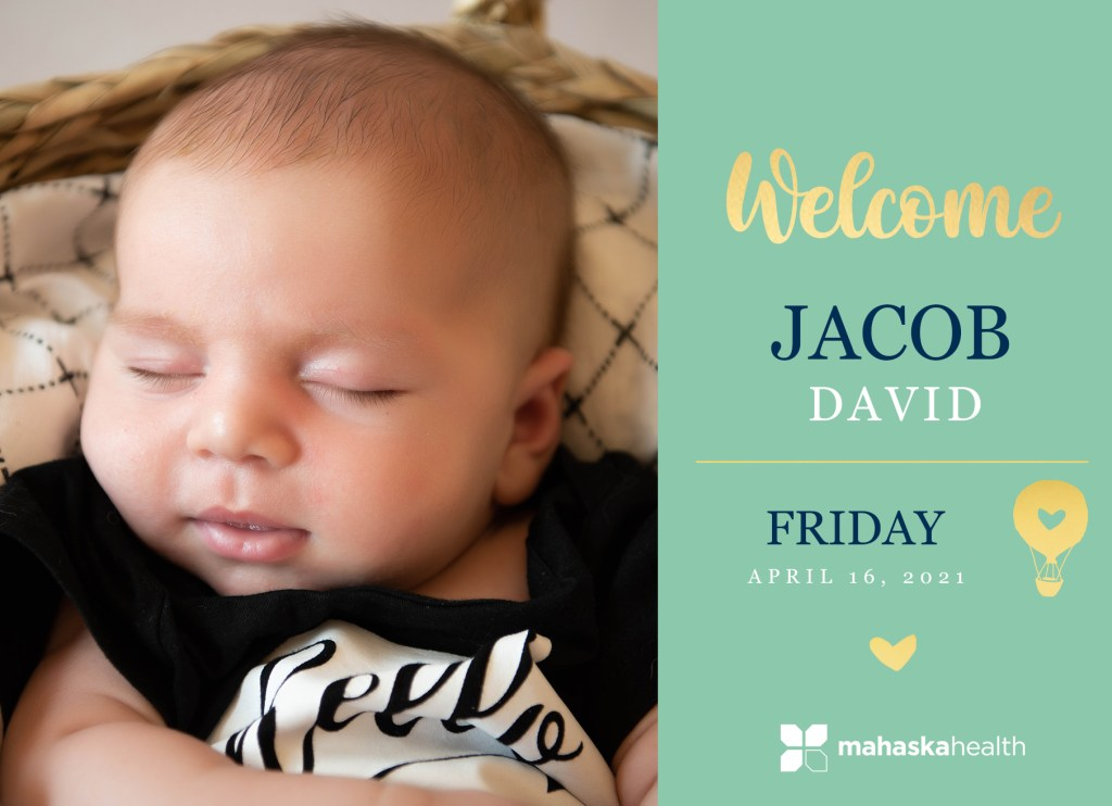 Welcome Jacob David! 8