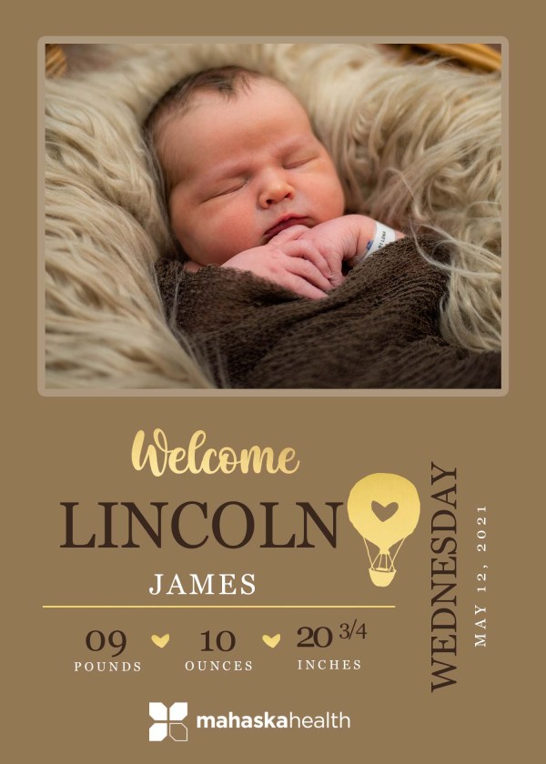Welcome Lincoln James! 8