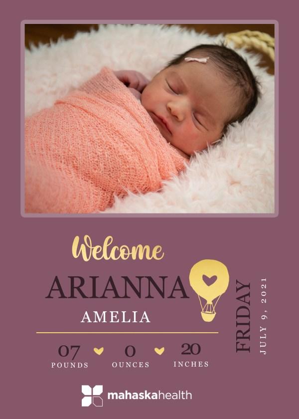 Welcome Arianna Amelia! 8