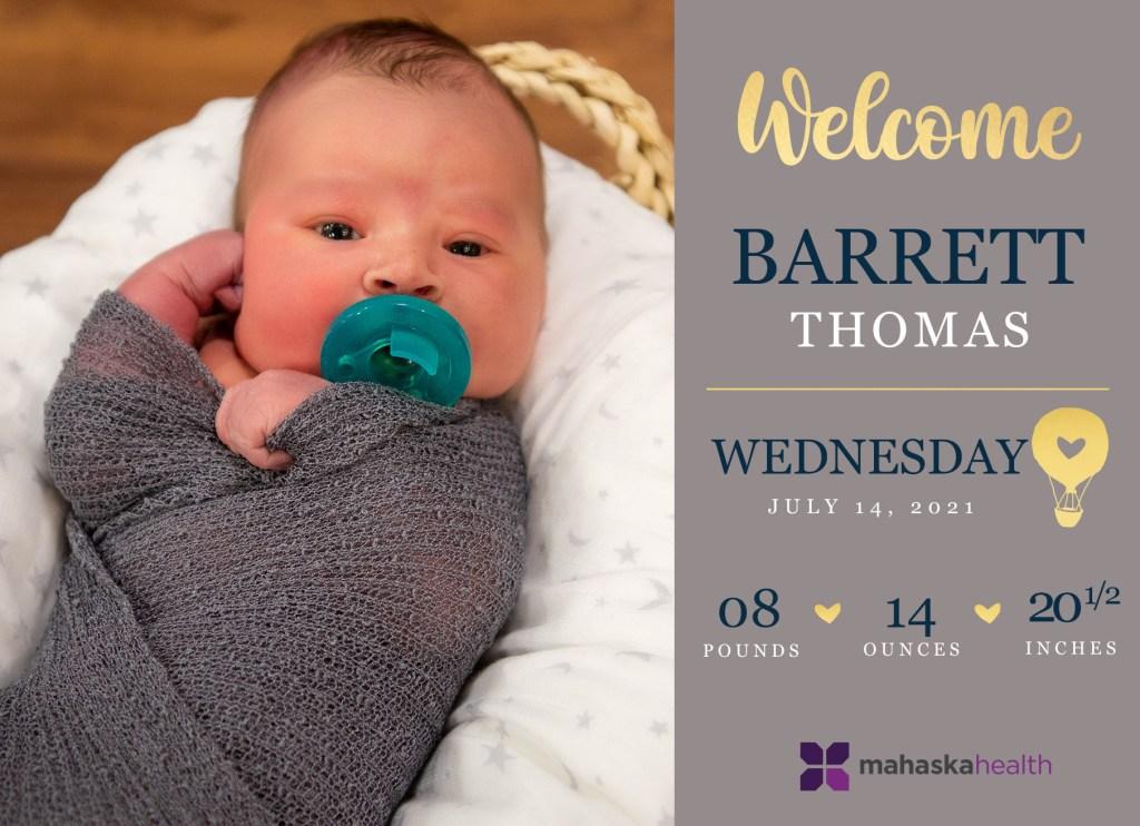 Welcome Barrett Thomas! 8