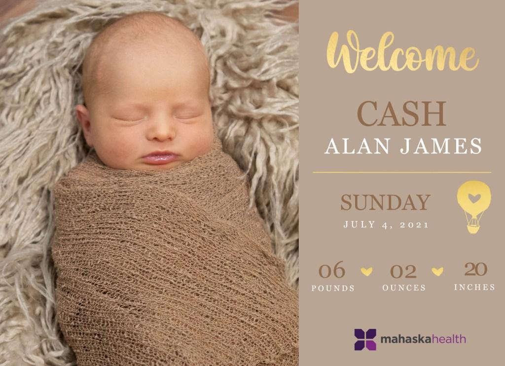 Welcome Cash Alan James! 8