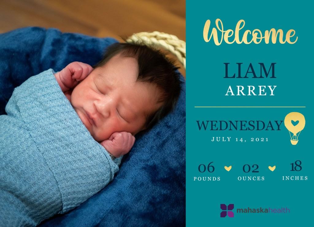 Welcome Liam Arrey! 8