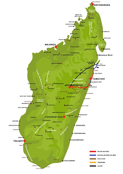 L'Est de Madagascar et l'ile de Ste Marie