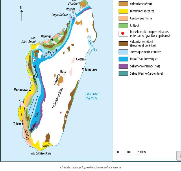 Carte géologique de Madagascar