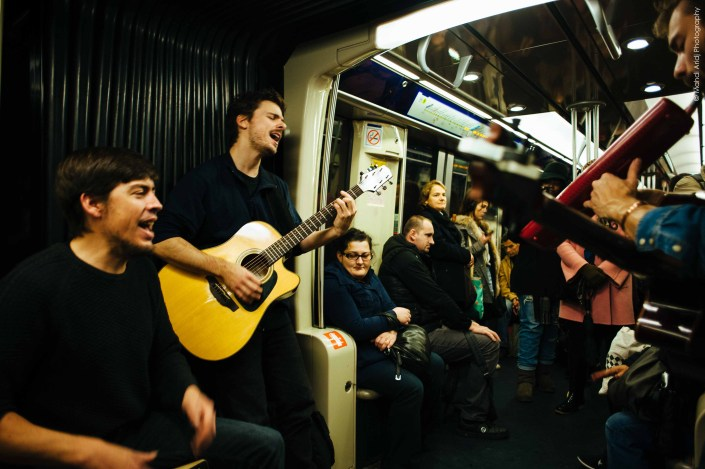 Event - Concert inside the metro - Band TALE