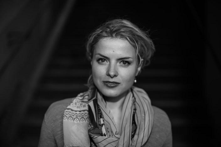 Kateryna portrait n&b
