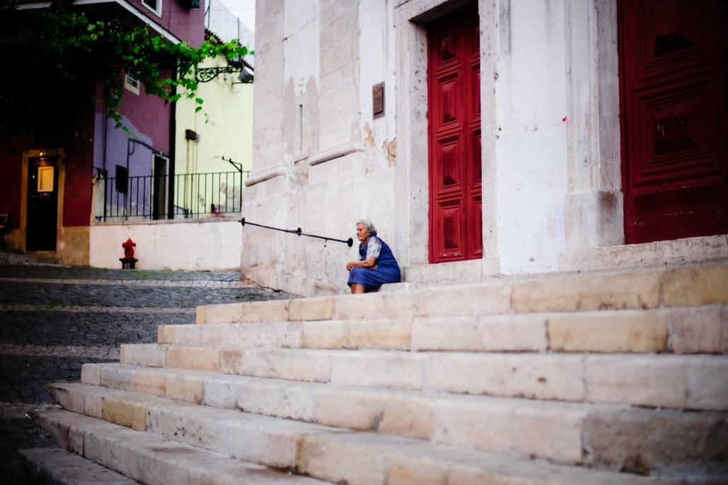 Lisbonne portugal Vielle femme - Lisbon