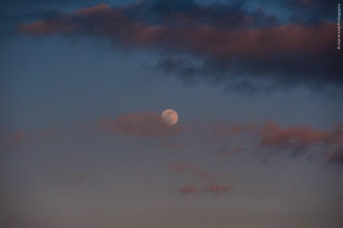 Lune - ciel - paysage de paris - landscape paris