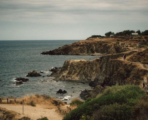les falaises sur la côte Vermeille - cliffs on the Vermilion coast