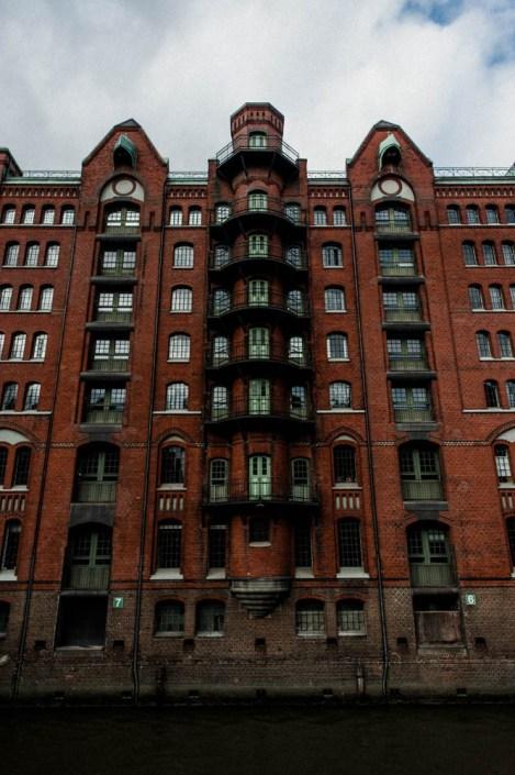 Typical architecture of Hamburg Speicherstadt