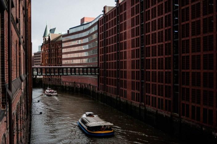 Boats on the Elbe - Speicherstadt - Hamburg