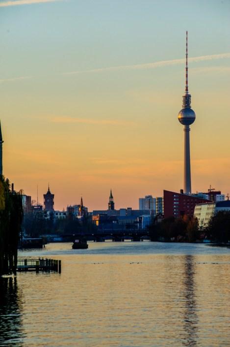 Cityscape of Berlin from Warschauer Straße / Warschauer Strasse