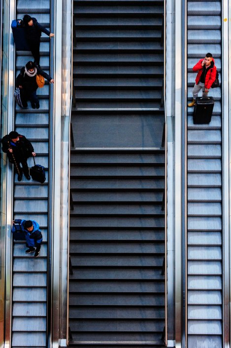 Berlin Central Station - Stairs and layers 11