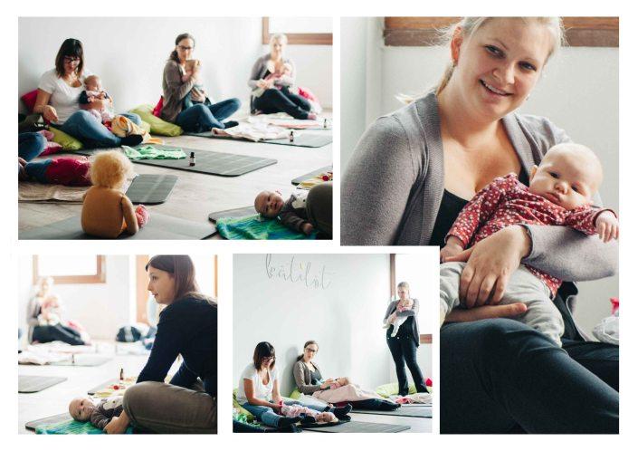 Mothers at a baby massage class - The midwifery project - Hebammenprojekt - Projet sur les sages - femmes en Allemagne