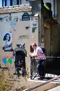 A tourist observing streets of Paris - Paris street photography