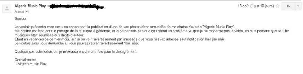 Copyright et non-respect des droits d'auteur en Algérie 14