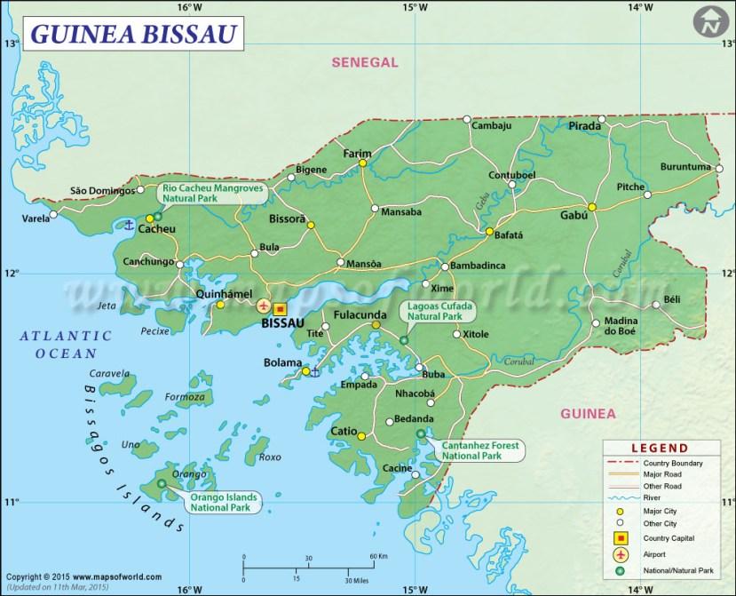 Guinea Bissau Map