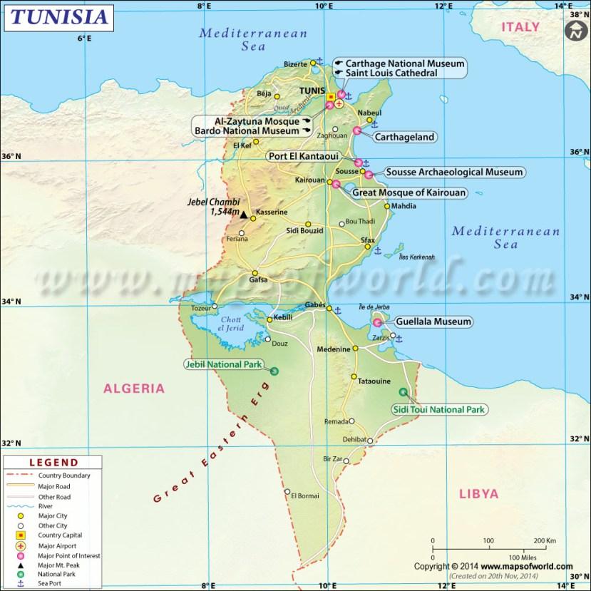 Tunisia Map