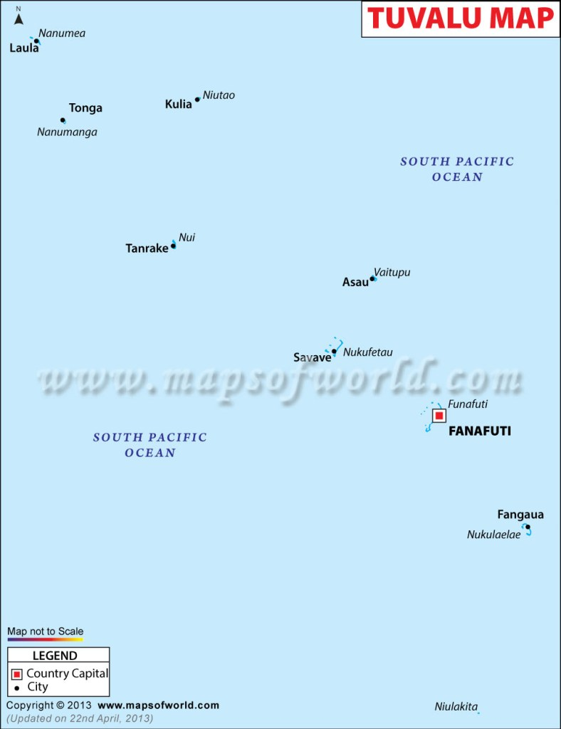Tuvalu country map