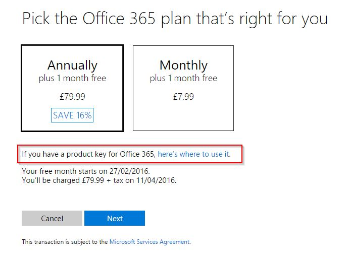 how to renew microsoft office for free