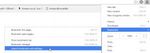 import bookmarks google chrome