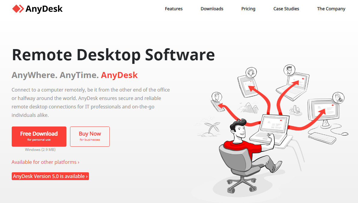 Anydesk homepage