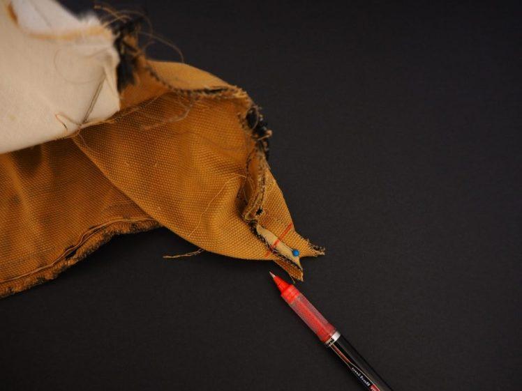 Kulman ompelu laukkuun