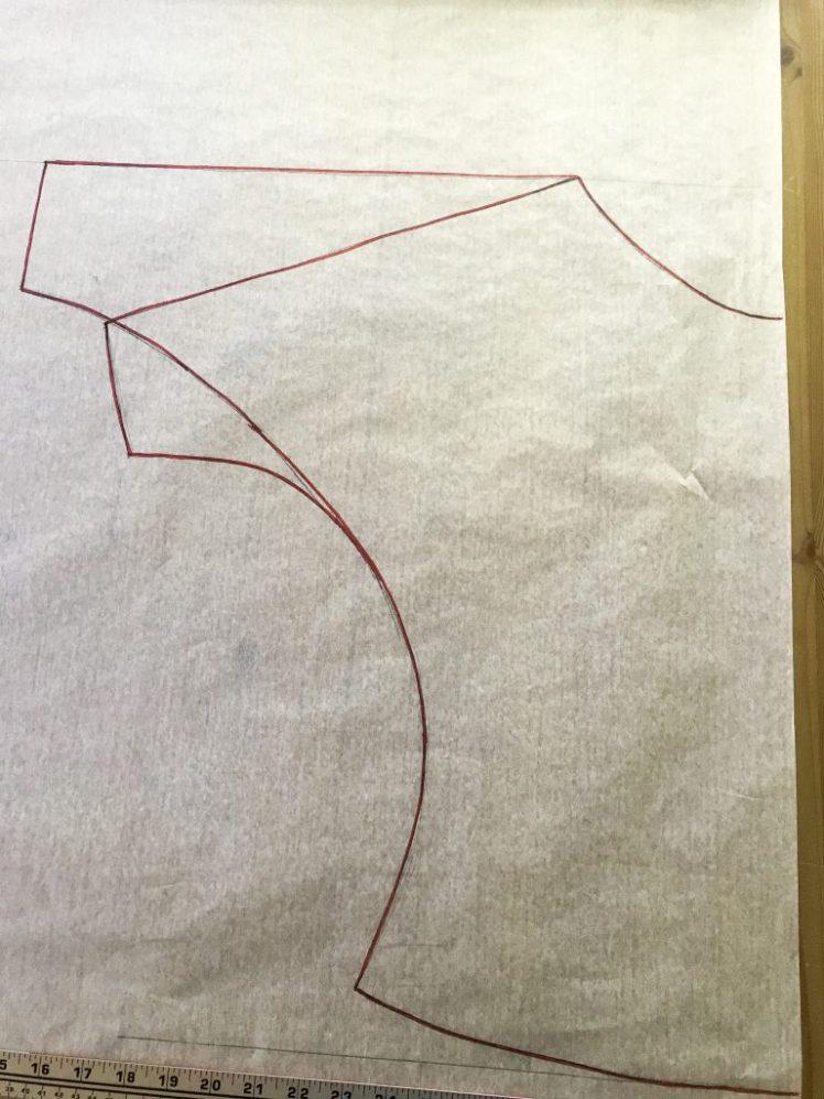 Näin piirrät lepakkohihaisen paidan kaavan
