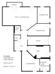 Mietwohnung mit 4,5 Zimmern in Dresden Lockwitz