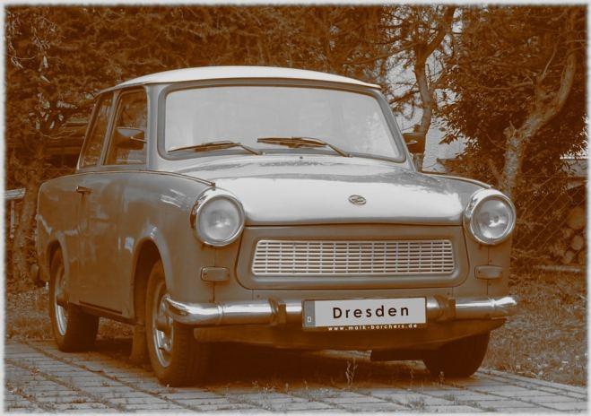 Trabi der Ferienwohnung Dresden