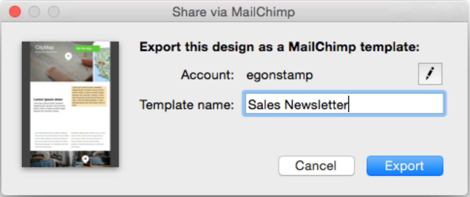 Uploading A Design To MailChimp Mail Designer Create HTML Email - Export mailchimp template
