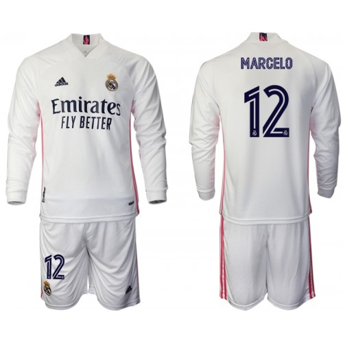 Maillot Real Madrid Marcelo 12 Enfant Domicile 2020/2021 ...