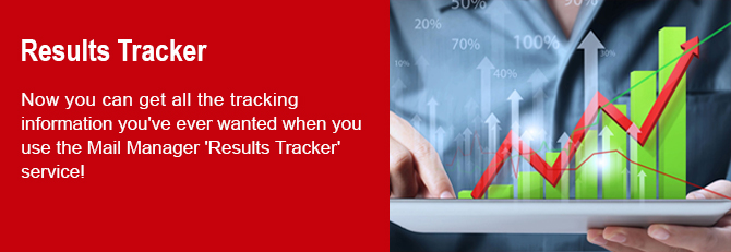 Banner for Results Tracker at Mail Manager