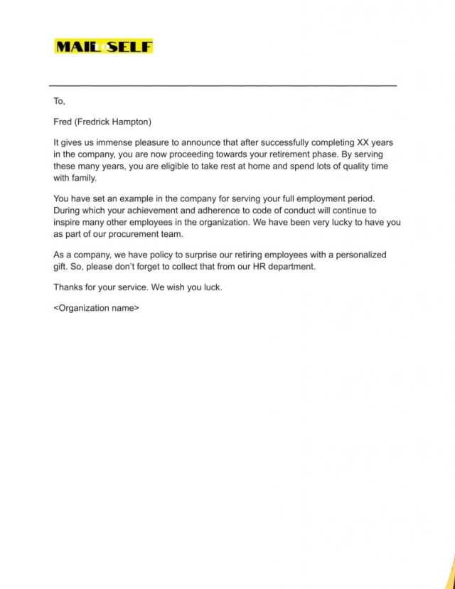 Retirement Letter To Thank Your Employee: How To, Templates