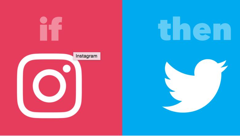IFTTT Instagram twitter