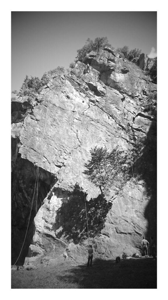 Climbing in Dorénaz