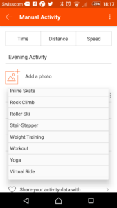 Strava has updated the list of sports