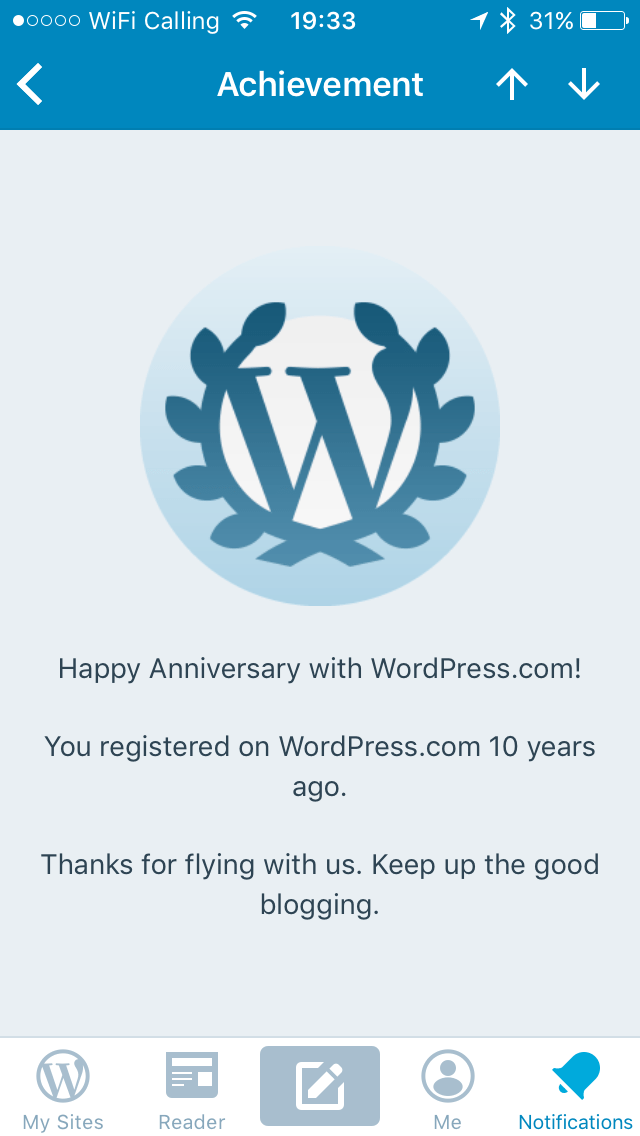 10 years of Wordpress