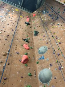 The Climbing Wall at Vitam Park - The pink route is a 6C route