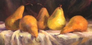 Five Gold Pears by Sandra Dunn