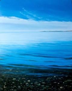 Wading, Looking West at Dawn by Alex Dunwoodie