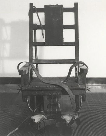 An early electric chair. Richeson was executed...